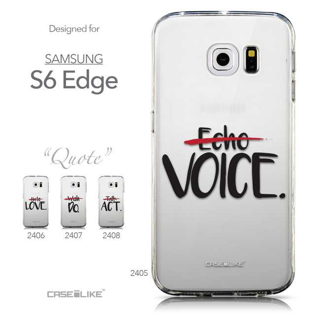 Collection - CASEiLIKE Samsung Galaxy S6 Edge back cover Quote 2405