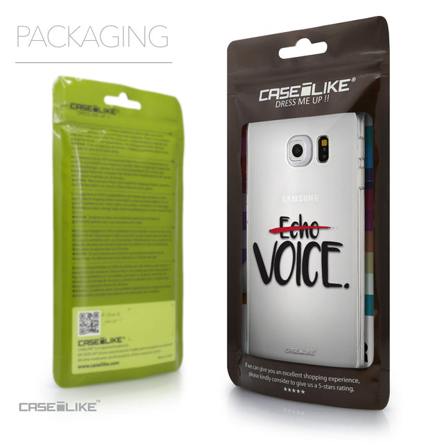 Packaging - CASEiLIKE Samsung Galaxy S6 Edge back cover Quote 2405