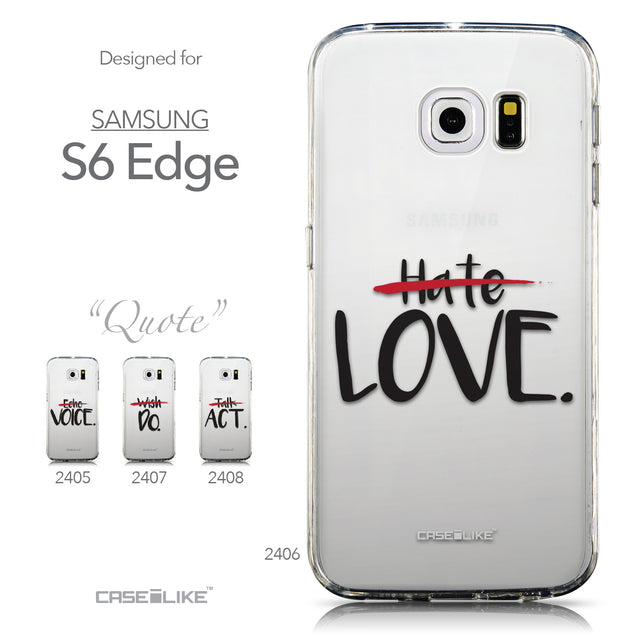 Collection - CASEiLIKE Samsung Galaxy S6 Edge back cover Quote 2406