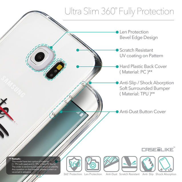 Details in English - CASEiLIKE Samsung Galaxy S6 Edge back cover Quote 2406
