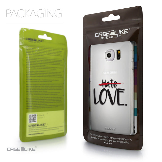 Packaging - CASEiLIKE Samsung Galaxy S6 Edge back cover Quote 2406