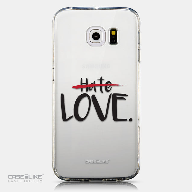 CASEiLIKE Samsung Galaxy S6 Edge back cover Quote 2406