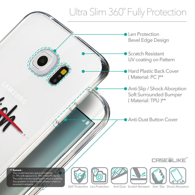 Details in English - CASEiLIKE Samsung Galaxy S6 Edge back cover Quote 2407