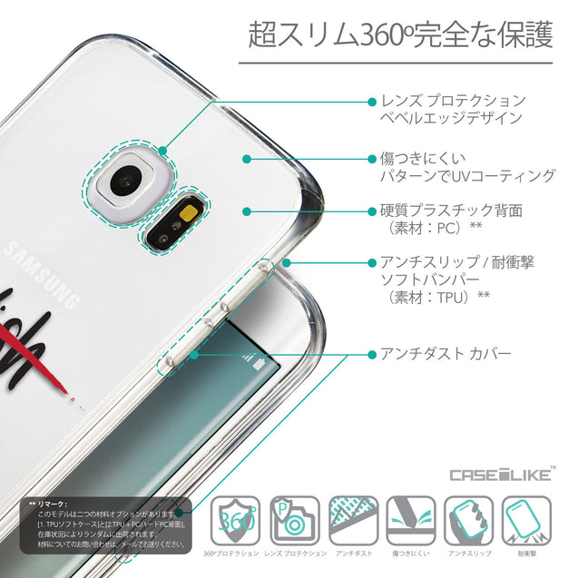 Details in Japanese - CASEiLIKE Samsung Galaxy S6 Edge back cover Quote 2407