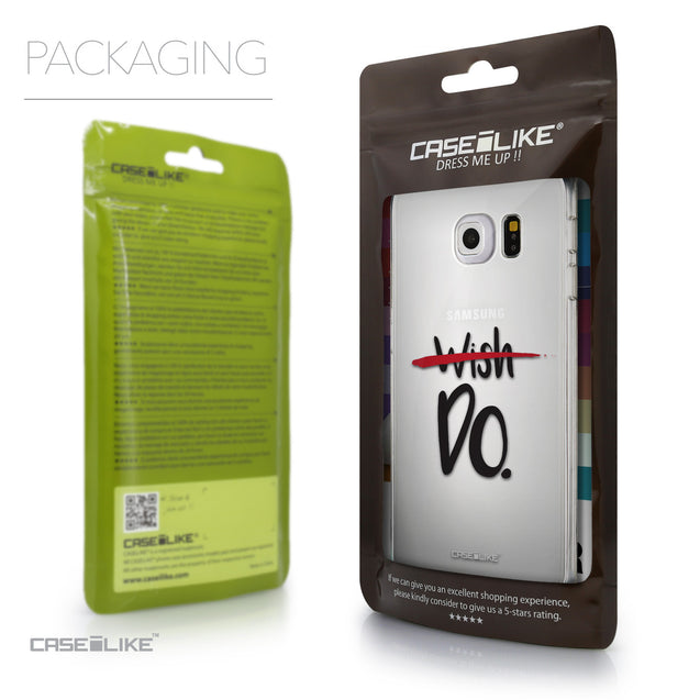 Packaging - CASEiLIKE Samsung Galaxy S6 Edge back cover Quote 2407