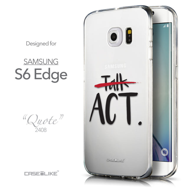 Front & Side View - CASEiLIKE Samsung Galaxy S6 Edge back cover Quote 2408