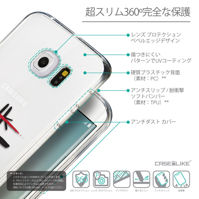Details in Japanese - CASEiLIKE Samsung Galaxy S6 Edge back cover Quote 2408