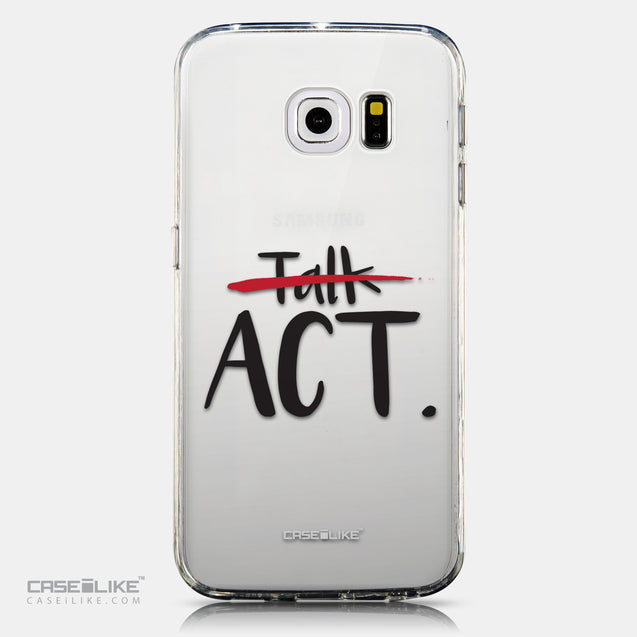 CASEiLIKE Samsung Galaxy S6 Edge back cover Quote 2408