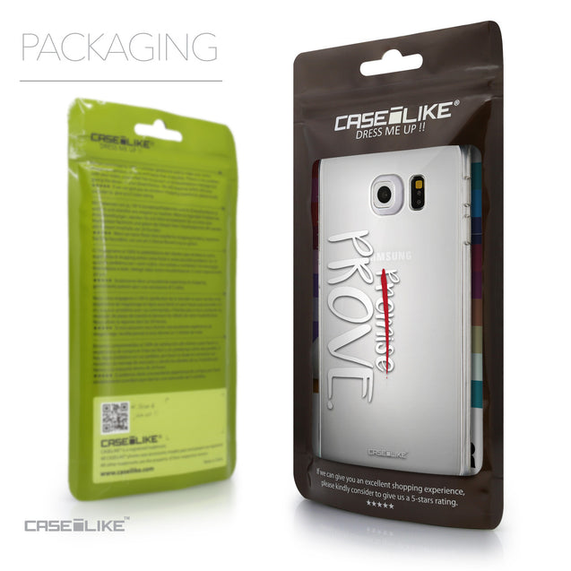 Packaging - CASEiLIKE Samsung Galaxy S6 Edge back cover Quote 2409