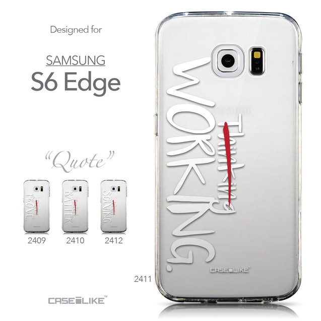 Collection - CASEiLIKE Samsung Galaxy S6 Edge back cover Quote 2411