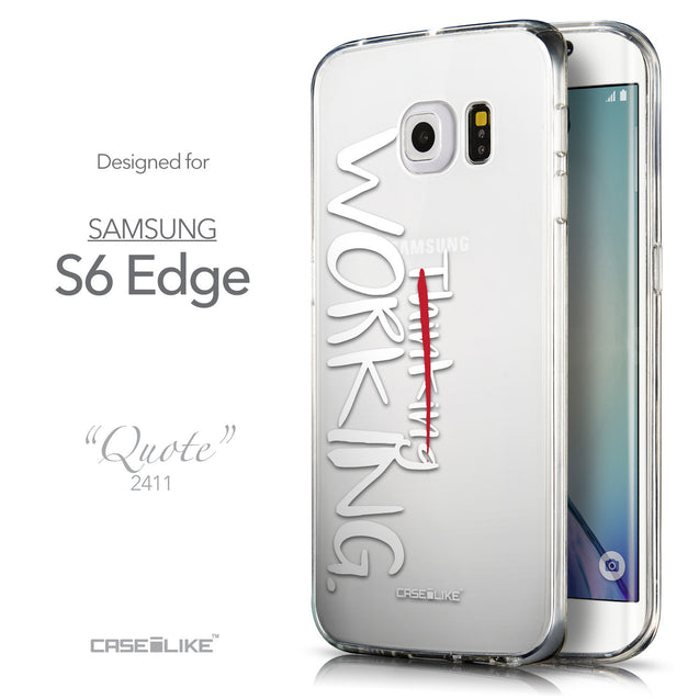 Front & Side View - CASEiLIKE Samsung Galaxy S6 Edge back cover Quote 2411