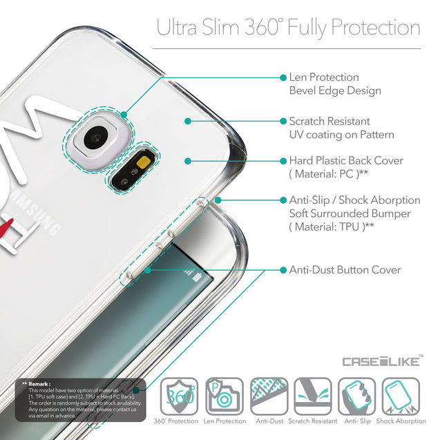 Details in English - CASEiLIKE Samsung Galaxy S6 Edge back cover Quote 2411