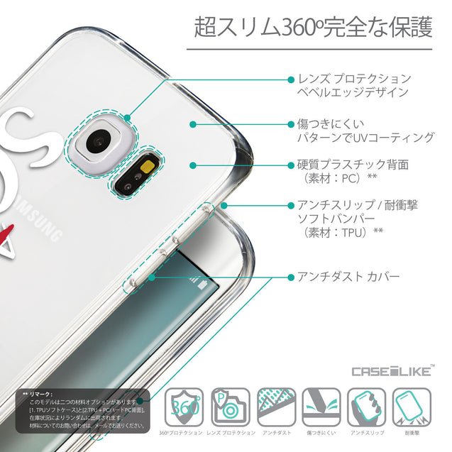 Details in Japanese - CASEiLIKE Samsung Galaxy S6 Edge back cover Quote 2412