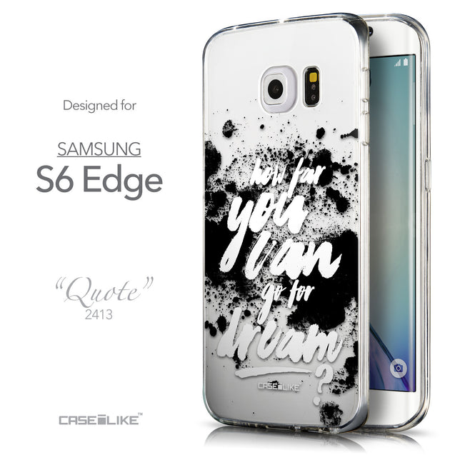 Front & Side View - CASEiLIKE Samsung Galaxy S6 Edge back cover Quote 2413