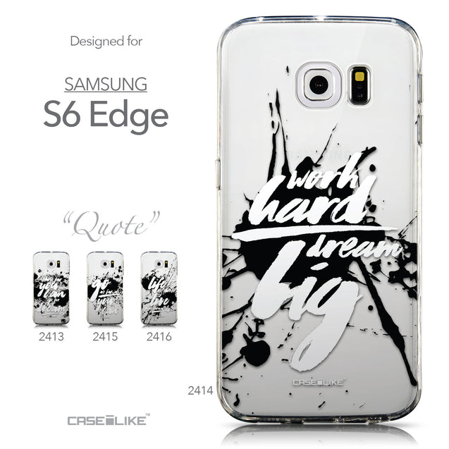 Collection - CASEiLIKE Samsung Galaxy S6 Edge back cover Quote 2414
