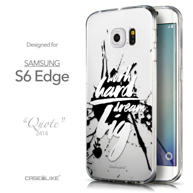 Front & Side View - CASEiLIKE Samsung Galaxy S6 Edge back cover Quote 2414
