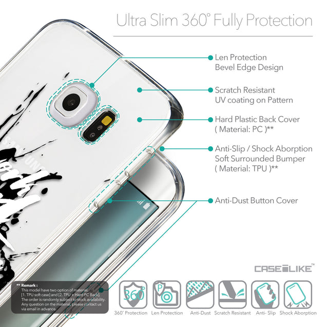 Details in English - CASEiLIKE Samsung Galaxy S6 Edge back cover Quote 2414