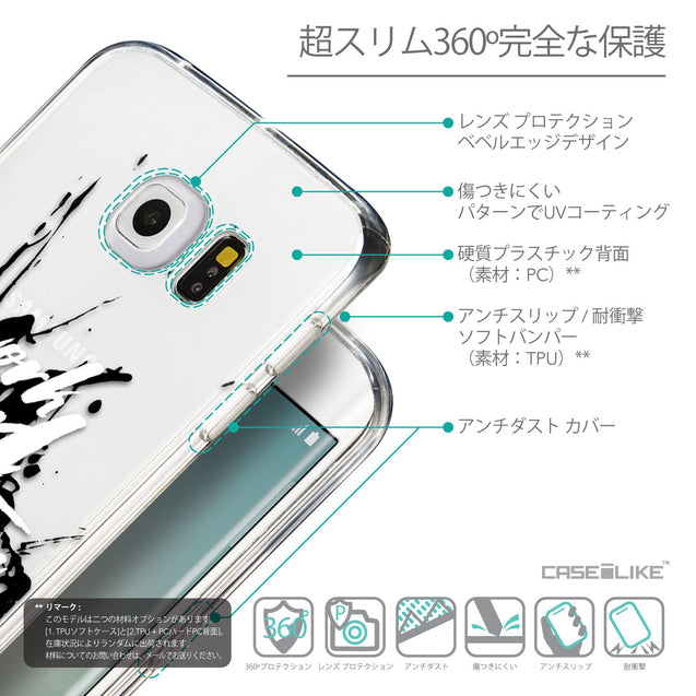 Details in Japanese - CASEiLIKE Samsung Galaxy S6 Edge back cover Quote 2414
