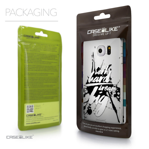 Packaging - CASEiLIKE Samsung Galaxy S6 Edge back cover Quote 2414