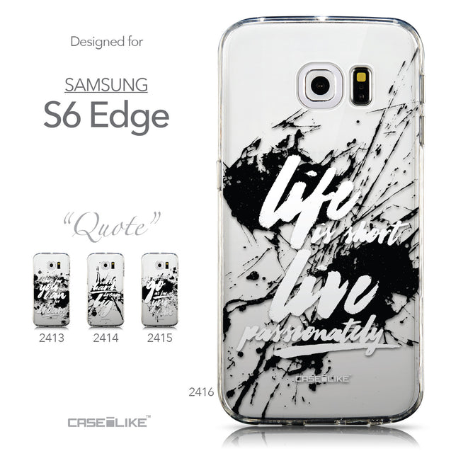 Collection - CASEiLIKE Samsung Galaxy S6 Edge back cover Quote 2416