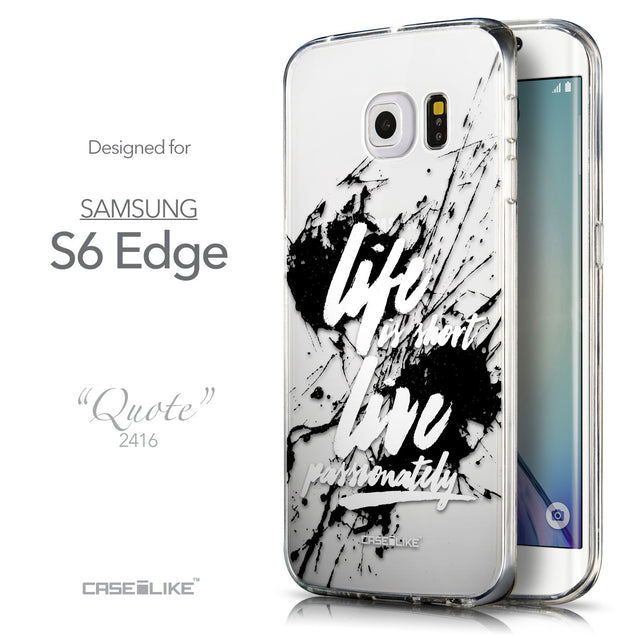Front & Side View - CASEiLIKE Samsung Galaxy S6 Edge back cover Quote 2416