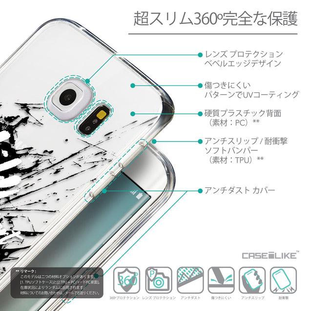 Details in Japanese - CASEiLIKE Samsung Galaxy S6 Edge back cover Quote 2416