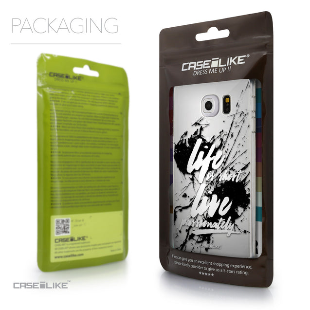 Packaging - CASEiLIKE Samsung Galaxy S6 Edge back cover Quote 2416
