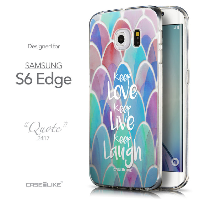 Front & Side View - CASEiLIKE Samsung Galaxy S6 Edge back cover Quote 2417