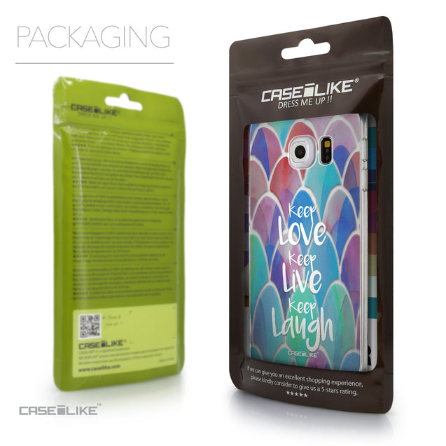 Packaging - CASEiLIKE Samsung Galaxy S6 Edge back cover Quote 2417