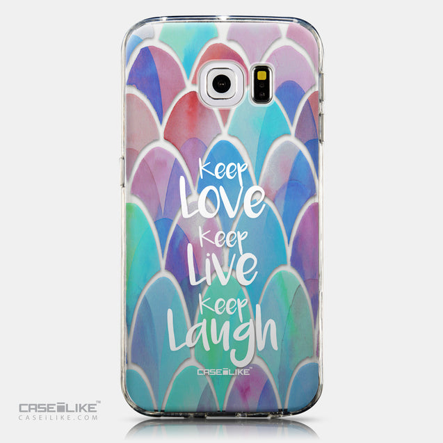 CASEiLIKE Samsung Galaxy S6 Edge back cover Quote 2417
