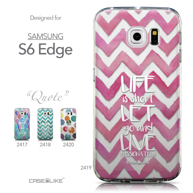 Collection - CASEiLIKE Samsung Galaxy S6 Edge back cover Quote 2419