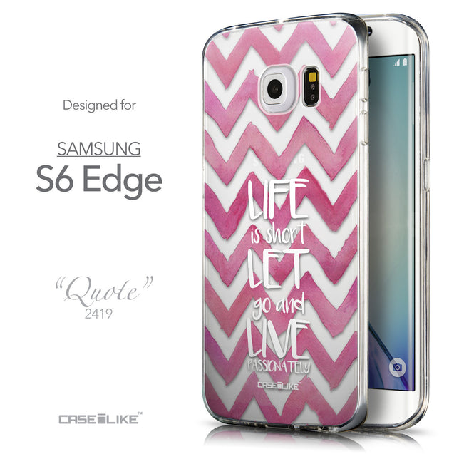 Front & Side View - CASEiLIKE Samsung Galaxy S6 Edge back cover Quote 2419