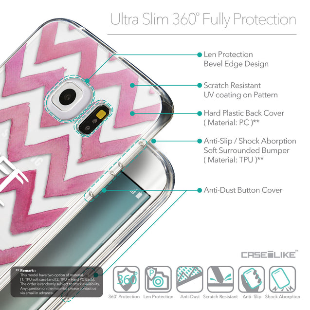 Details in English - CASEiLIKE Samsung Galaxy S6 Edge back cover Quote 2419
