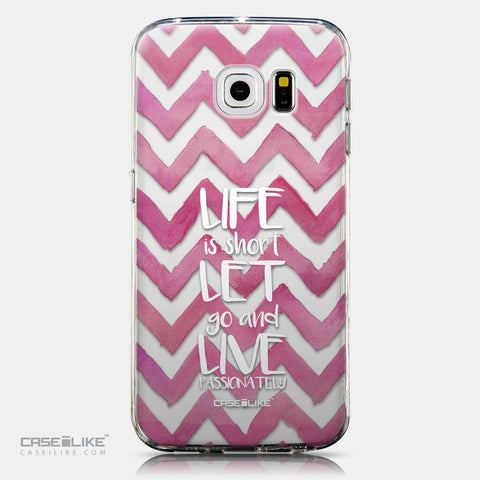 CASEiLIKE Samsung Galaxy S6 Edge back cover Quote 2419