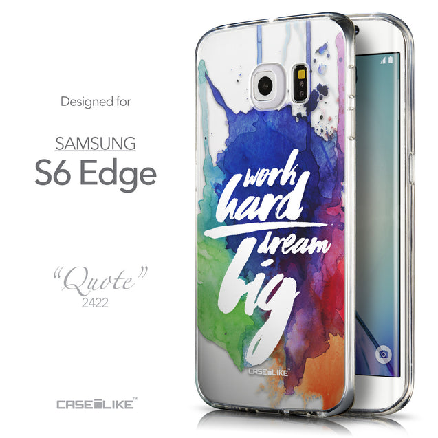 Front & Side View - CASEiLIKE Samsung Galaxy S6 Edge back cover Quote 2422