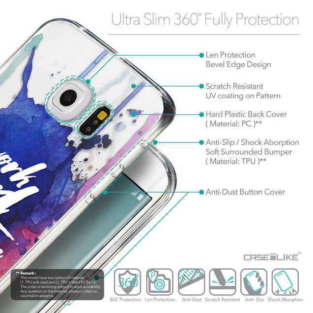 Details in English - CASEiLIKE Samsung Galaxy S6 Edge back cover Quote 2422