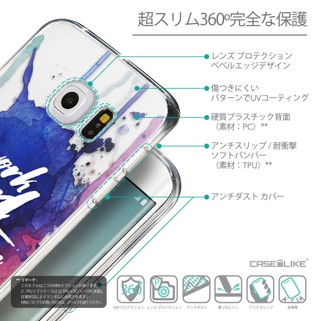 Details in Japanese - CASEiLIKE Samsung Galaxy S6 Edge back cover Quote 2422