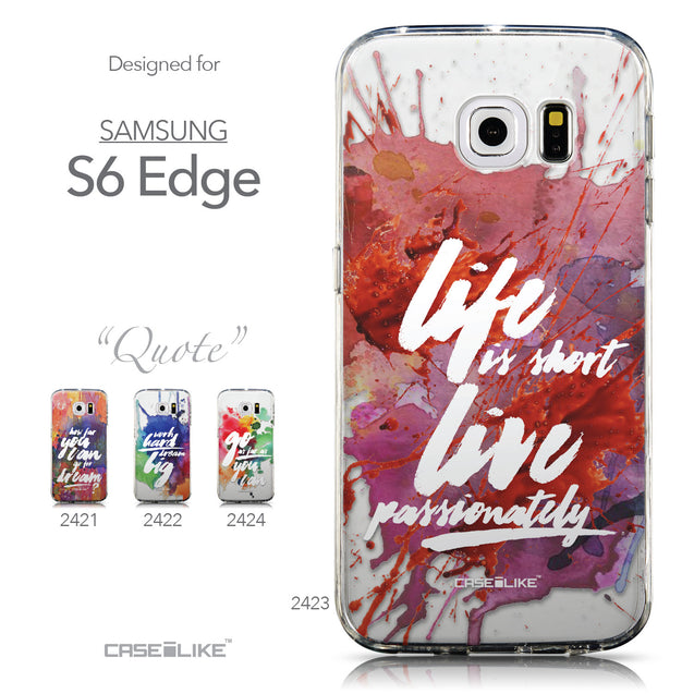 Collection - CASEiLIKE Samsung Galaxy S6 Edge back cover Quote 2423