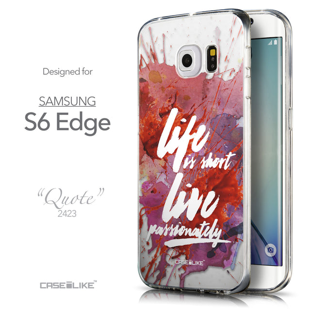 Front & Side View - CASEiLIKE Samsung Galaxy S6 Edge back cover Quote 2423