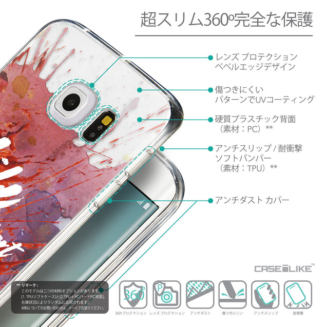 Details in Japanese - CASEiLIKE Samsung Galaxy S6 Edge back cover Quote 2423
