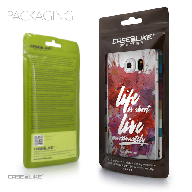 Packaging - CASEiLIKE Samsung Galaxy S6 Edge back cover Quote 2423