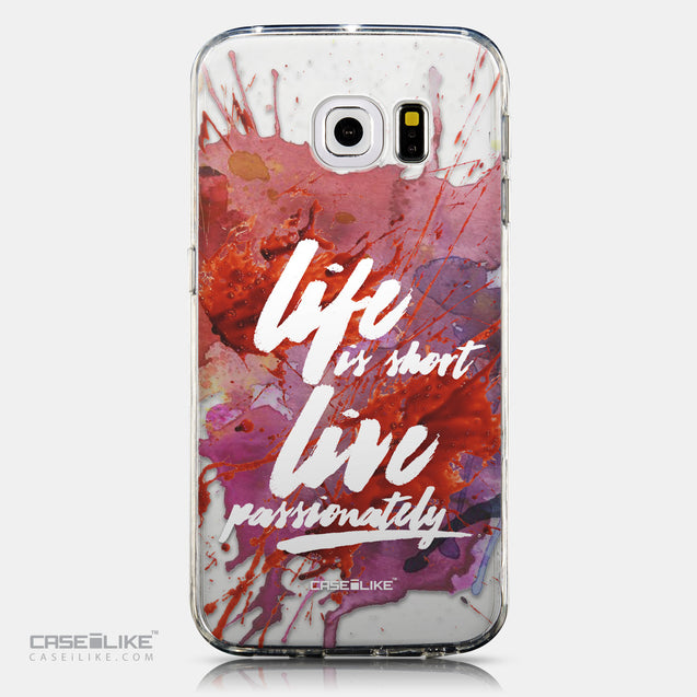 CASEiLIKE Samsung Galaxy S6 Edge back cover Quote 2423