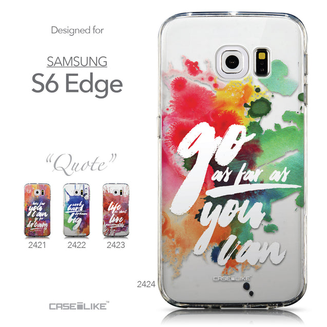 Collection - CASEiLIKE Samsung Galaxy S6 Edge back cover Quote 2424