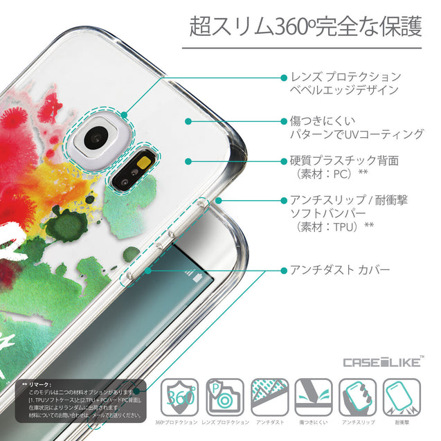 Details in Japanese - CASEiLIKE Samsung Galaxy S6 Edge back cover Quote 2424