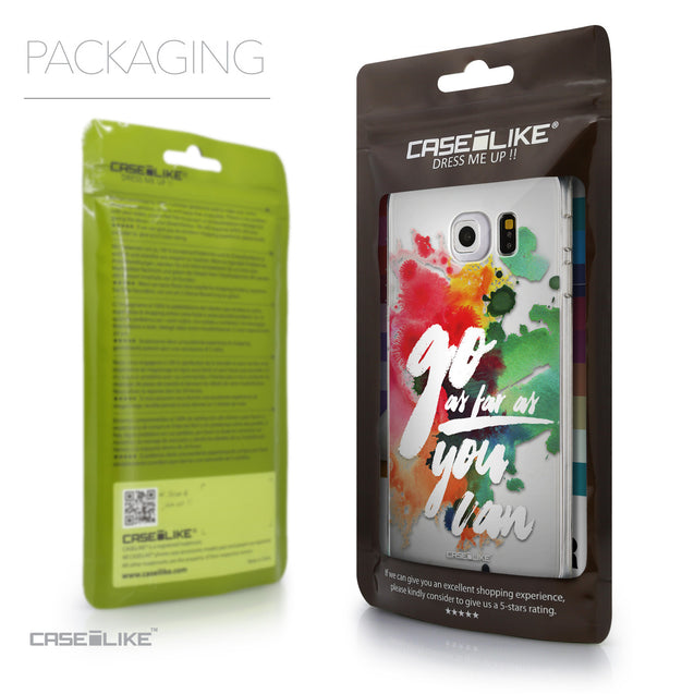 Packaging - CASEiLIKE Samsung Galaxy S6 Edge back cover Quote 2424