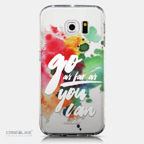 CASEiLIKE Samsung Galaxy S6 Edge back cover Quote 2424