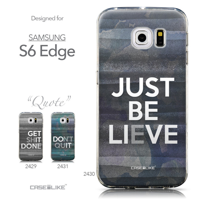 Collection - CASEiLIKE Samsung Galaxy S6 Edge back cover Quote 2430