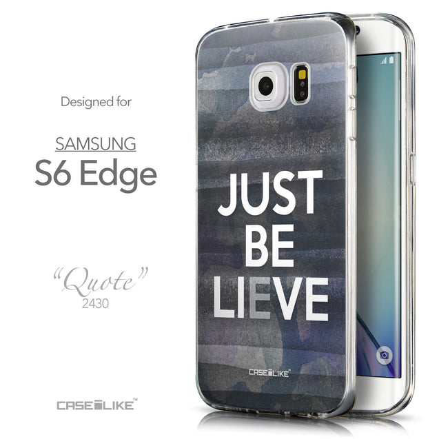 Front & Side View - CASEiLIKE Samsung Galaxy S6 Edge back cover Quote 2430