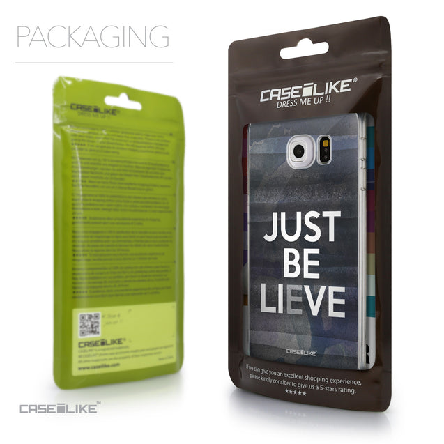 Packaging - CASEiLIKE Samsung Galaxy S6 Edge back cover Quote 2430