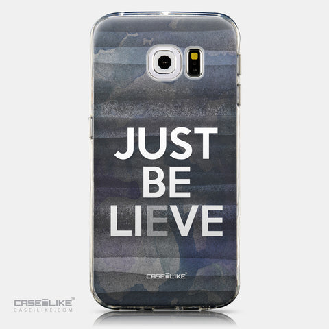 CASEiLIKE Samsung Galaxy S6 Edge back cover Quote 2430